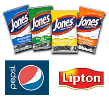 We carry Jones Potato Chips and Pepsi Products